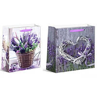 """Пакет подарочный бумажный XL """"Lavender 1"""", ЦЕНА ЗА УП. 12ШТ, 40*55*15см (240шт)"""