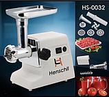 Мясорубка Bosch Henschll HS-0032 электрическая с реверсом насадками 2500Вт | Электромясорубка с соковыжималкой, фото 2