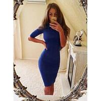Женское платье миди синие, красное, черное