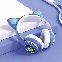 Наушники беспроводные LED с кошачьими ушками Y-47 | Bluetooth наушники