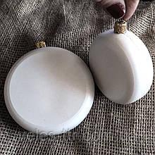 Подвеска Медальон 10х3,3 см пластик серый заготовка для новогодней игрушки