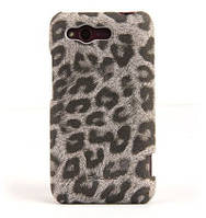 Кожаный чехол-накладка для телефона Nuoku LEO stylish leather cover for HTC Rhyme G20, grey