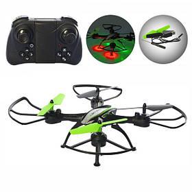 Квадрокоптер дрон с камерой HD wi-fi и подсветкой Drone HC697 Черный (58312)