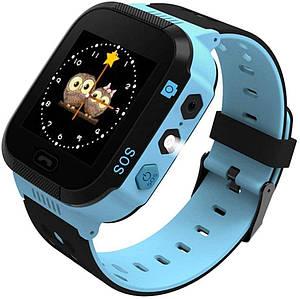 Детские умные смарт часы GPS Smart Kids watch с камерой, прослушкой, Часы-телефон для детей c трекером, Синий
