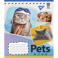 Тетрадь Yes А5 Pets Shoot 18 листов линия 5 дизайнов 25 шт (765385)