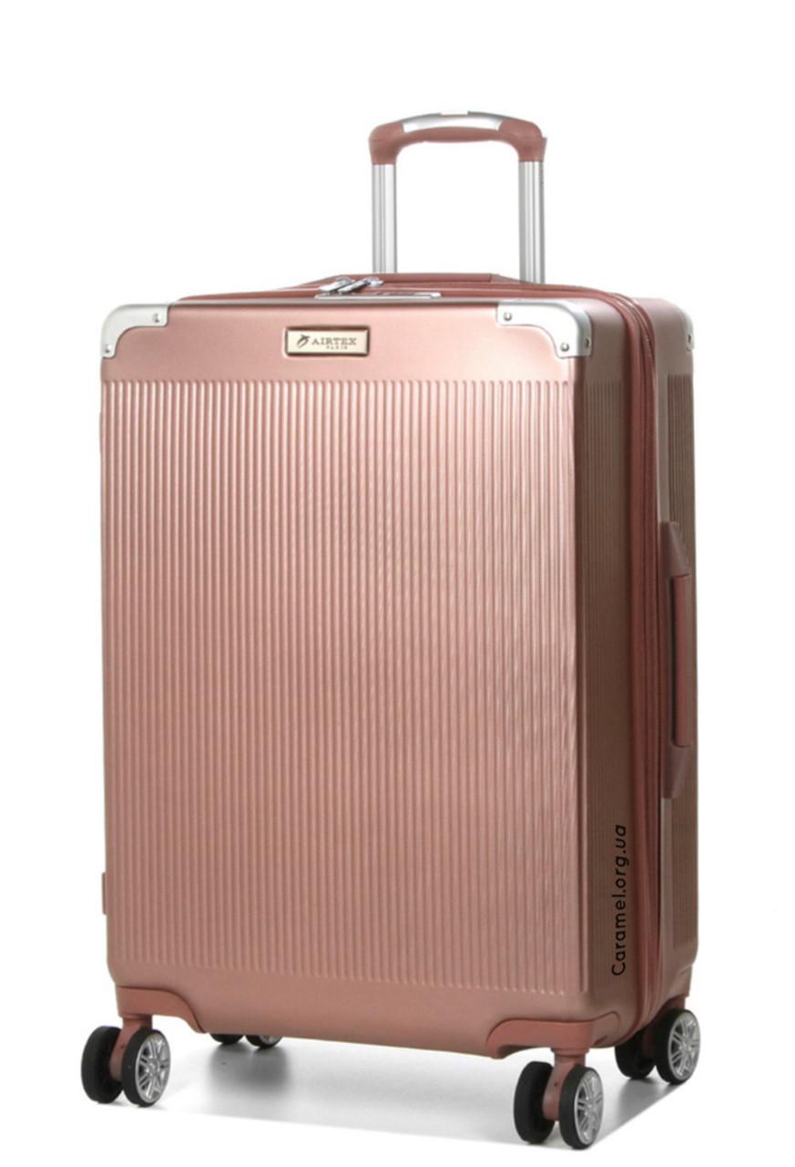 Чемодан из поликарбоната Франция средний M розовое золото  | 66*44*27 см | 3.500 кг | 70 л | AIRTEX 225