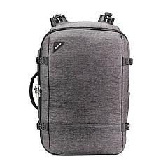 """Рюкзак, формат Maxi, """"антизлодій"""" Vibe 40, 7 ступенів захисту (сірий, 50 х 35 х 18 см)"""
