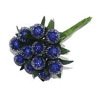 Ягоды Синие на проволоке 10 мм пучок 6 шт/уп