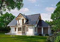 MS113. Мансардный дом с многоскатной кровлей