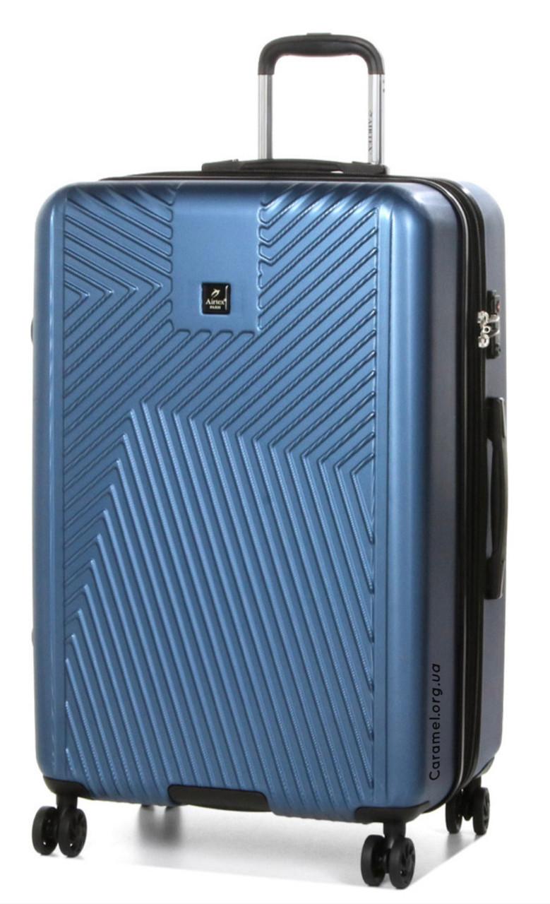 Валіза полікарбонат з розширенням великий L синій   31х74х51 см   4.600 кг   117 л   AIRTEX 7346