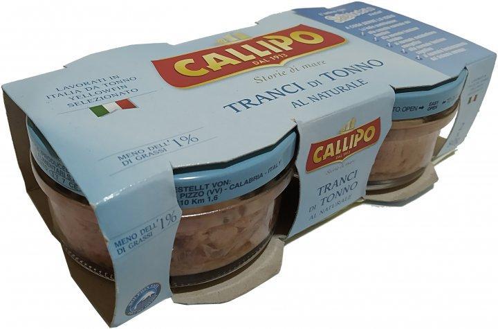 CALLIPO Тунець у власному соці 2х80г з/б