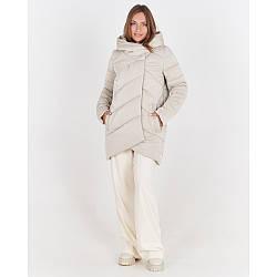 Шикарная женская зимняя куртка-пуховик из плащевки, с капюшоном