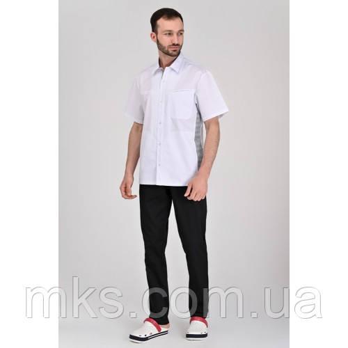 Медичний костюм Гамбург Білий-чорний