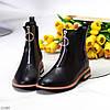 Актуальні повсякденні чорні жіночі черевики челсі на флісі низький хід, фото 6