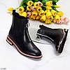 Актуальні повсякденні чорні жіночі черевики челсі на флісі низький хід, фото 9