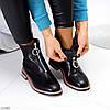 Актуальні повсякденні чорні жіночі черевики челсі на флісі низький хід, фото 8