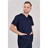Медичний костюм Мадрид Темно/синій, фото 2