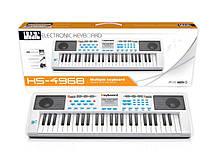 Lb Детский музыкальный инструмент Детский синтезатор HS4968B на 49 клавиш игрушка