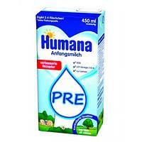 Humana ПРЕ с LC PUFA «С пребиотиками галактоолигосахаридами (ГОС)» Молочная смесь 450 мл