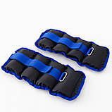 Утяжелители для ног и рук (манжеты для фитнеса и бега) OSPORT Lite Comfort 2шт по 1кг (FI-0117), фото 3