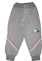 Спортивные штаны утеплённые для девочки р.74-122