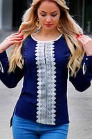 Блуза женская с декором впереди