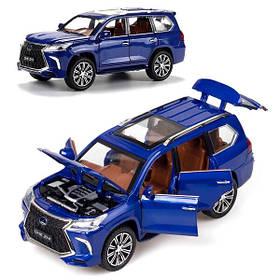 Lexus LX570 игрушка моделька машинка коллекционная металлическая джип внедорожник 20 см Синий (59250)