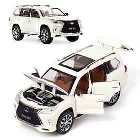 Машинка Lexus LX570 коллекционная моделька джип внедорожник игрушка металлическая 20 см Белый (59251)