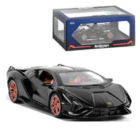 Lamborghini Sian игрушка машинка коллекционная моделька металлическая 16 см Черный (59252)