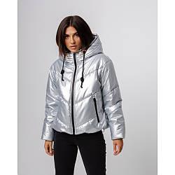 Брендовая женская зимняя куртка из плащевки
