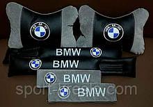 Автоподушка підголівник бабочка автомобільна з логотипом машини