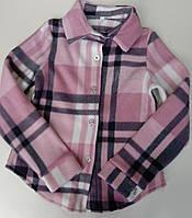 """Рубашка детская флисовая в клетку на девочку 116-140 см (4цв) """"VANILLA"""" недорого от прямого поставщика"""