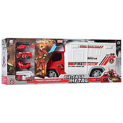 Игровой набор транспорта Bambi 95577-2 (Пожарная служба)