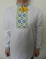 Мужская вышитая сорочка  в национальных цветах.