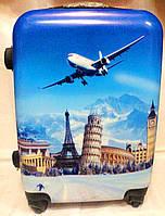 Чемодан пластик 360* Suitcase 1358-70 большой Самолет