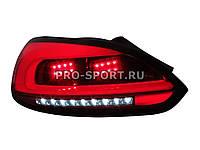 Задние тюнинг фонари VW Scirocco 2008+ светодиодные, тонированные красные