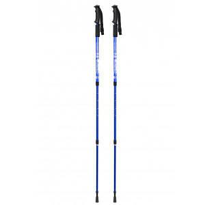 Antishock трость туристическая Синяя 65-135 cм (пара) (ANSHK-RED-135) + дополнительная мягкая рукоятка