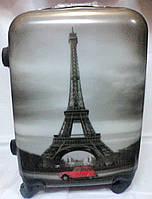 Чемодан пластик 360* Suitcase  1359-60 средний Париж