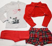 Детский костюм с шортами для девочки из четырех предметов