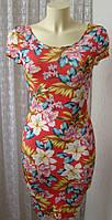 Платье женское легкое летнее вискоза стрейч мини бренд New Look р.42-44 5206