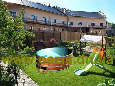 Купелі і міні басейни: квадратні, прямокутні, круглі, овальні з дерева, ПВХ, поліпропілену