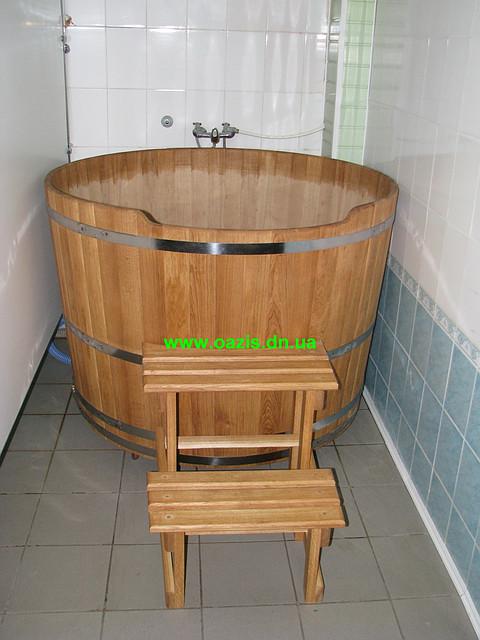 Купель круглая для бани и сауны 110х110см.