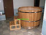 Купіль кругла для лазні та сауни 110х110см., фото 2