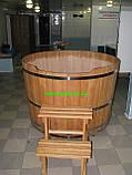 Купіль кругла для лазні та сауни 110х110см., фото 3