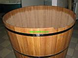 Купіль кругла для лазні та сауни 110х110см., фото 4