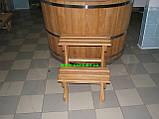 Купіль кругла для лазні та сауни 110х110см., фото 5