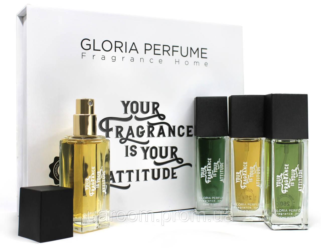 Набір чоловічих міні-парфумів Gloria Perfume YOUR FRAGRANCE IS YOUR AT. 4*15 ML(258-259-260-261)