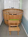 Купель круглая для бани и сауны 130х120см., фото 3