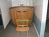Купель круглая для бани и сауны 130х120см., фото 4