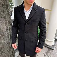 Пальто мужское демисезонное кашемировое Coat 2 двубортное | Мужское пальто осеннее весеннее ЛЮКС качества